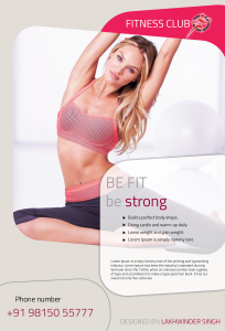 gym and fitness flyer_front